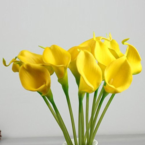 Orangeskycn Lily Artificial Flowers, 10Pcs Mini Artificial