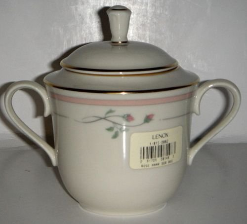 (Lenox Rose Manor - Pink Sugar Bowl With Lid )