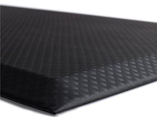 The Original 3/4″ KANGAROO (TM) Anti-Fatigue Comfort Mat Kitchen Rug, Ergonomically Engineered, Non-Toxic, Waterproof, 70×24 inches (Black)