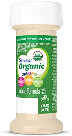 41qPrwkkz9L. AC - Similac Organic Infant Formula With Iron, Ready To Feed, 2 Fl Oz Bottles (Pack Of 48)