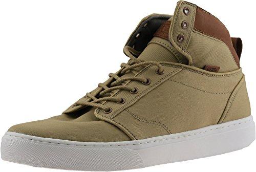 Vans Mens Alomar + Sneaker Di Moda In Tessuto E Pelle Alta E Tessuto Kaki / Bianco