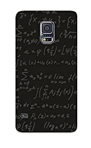 Srkfek-972-lnpynux Cover Case - Formula Math Text Texture Protective Case Compatibel With Galaxy S5