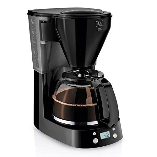 Melitta Cafetera de Goteo Easy Timer 1010-04, Función Temporizador, Programable, Mantiene el Calor, Jarra Vidrio, Negro