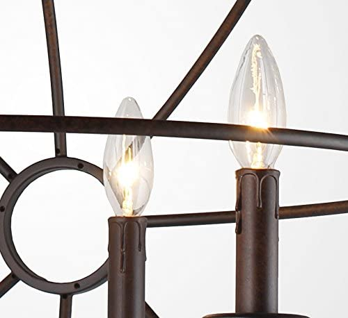 AA Warehousing LZ2325RS Modern, Transitional ORB 5 Light Chandelier In Dark Bronze Finish, , Oil Rubbed Bronze, Brown