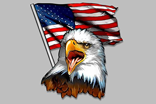 (American flag Eagle head vinyl decal 8