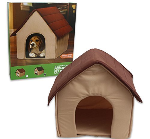 Pet house Portable [Brown, tan]