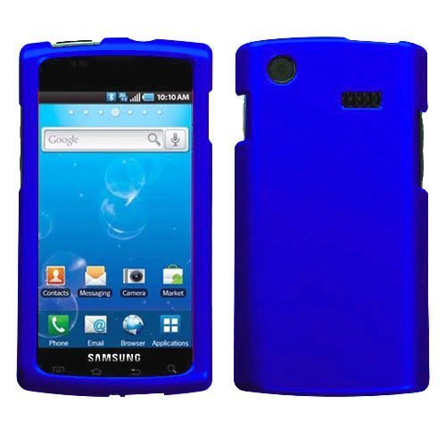 Samsung Captivate I897 Lcd - Blue Rubberized Hard Case for Samsung Captivate i897 (Galaxy S) AT&T