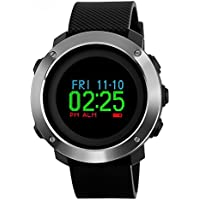 Mens Digital Sports Watch, Military Waterproof Watches Compass Stopwatch Pedometer with Colorful Screen