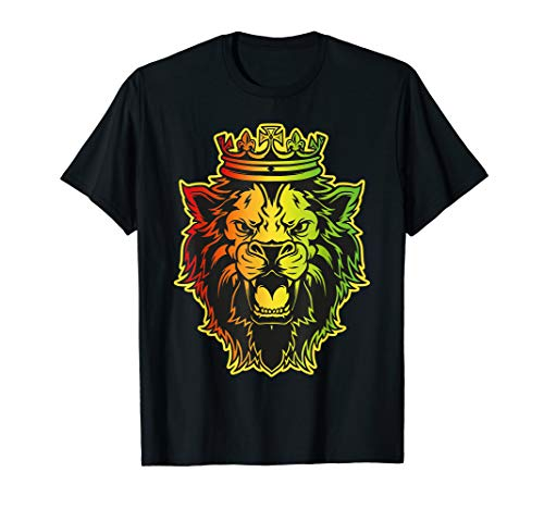 Reggae Shirt Lion of Judah. Rastafari Roots