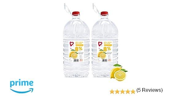 Living Earth 2 x 5 litres | 8% Vinagre Blanco con Limón (8 ...