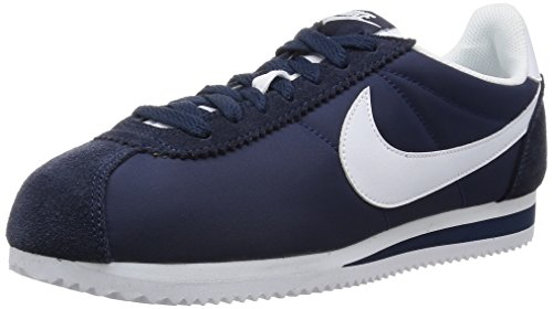 Nike Classic Cortez Nylon Mens Casual Sneakers (10.5 D(M) US) Obsidian/White