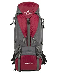 TETON Sports Hiker 3700 Ultralight Internal Frame Backpack – Not Your Basic Backpack; High-Performance Backpack for Hiking, Camping, Travel, and Outdoor Activities; Sewn-In Rain Cover