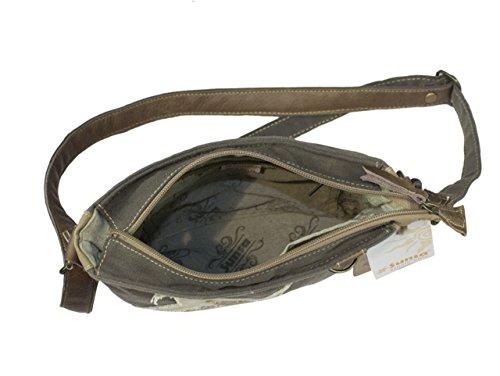 Sunsa Borse da Donna Vintage Borse a tracolla Borsette in Canvas / Telo olona con pelle 51742