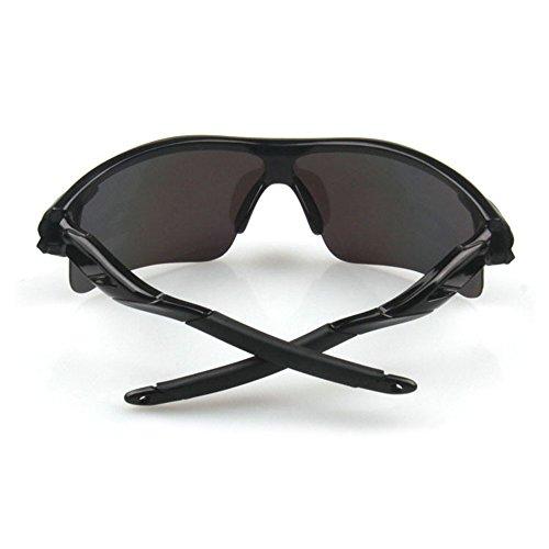 J+S Active PLUS Cycling Outdoor Sports Athlete's Sunglasses, 100% UV protection (Black Frame / Black Lens)