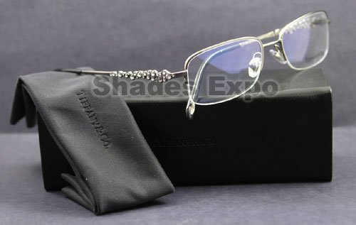 a3917105a11 Image Unavailable. Image not available for. Colour  Tiffany   Co. Women s  1001b Gunmetal Frame Metal Eyeglasses ...