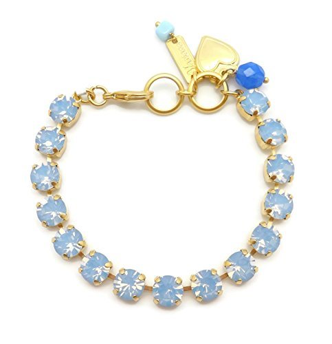 (Mariana Gold Plated Swarovski Crystal Bracelet in Air Blue Opalescent 285285)