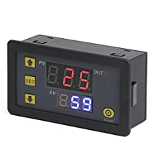 DROK® DC 12V Digital Timer Relay Board, Automotive 1500W Relay Module with Dual Time Display, Timing Relay Switch, Support Cycle of time, Time Delay for Car, Vehicle