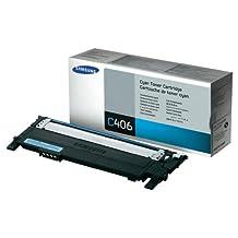 Samsung CLT-C406S Cyan Toner (1k) for CLP-360/365 CLX-3300/3305 C410/C460