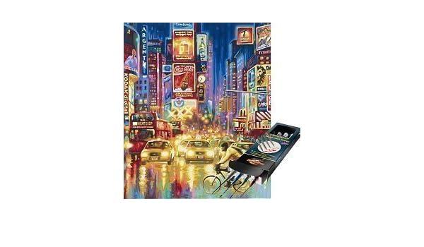 Noris Spiele Schipper - Pintar Por Números - The New York Times Square Incl.. Set pinceles: Amazon.es: Juguetes y juegos