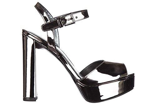 plata en de piel nuevo sandalias Stuart Weitzman tacón mujer S4C8xw