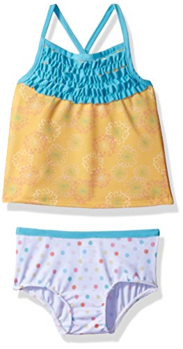 Jelly The Pug Little Girls' Scarlett Tankini Swimsuit, Multi, 3T