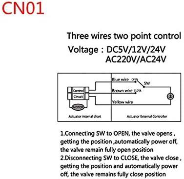 YINGDATERUI Electric Solenoid Valve AC220V //24V DC12V//24V 2 Way Brass Valve Motorized Ball Valve Electric Ball Valve Electric Actuator DN15 DN20 DN25 DN32 DN40