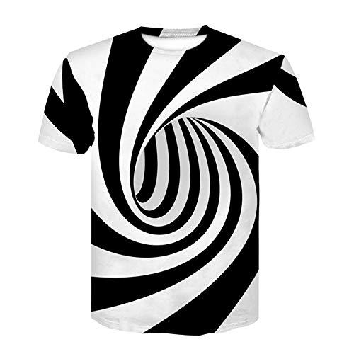 - TRENTON Men T-Shirts, Plus Size Vertigo Hypnotic 3D Pattern Print Short Sleeve O-Neck Summer T-Shirt Tops 1 M