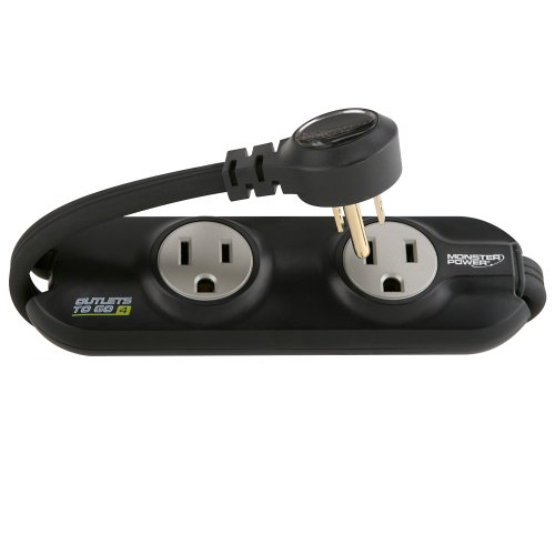 Monster MP OTG400 BK Outlets To Go Power Strip - 4 AC...