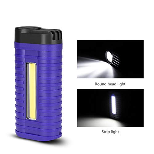 Sttech1 LED+COB Magnetic Torch Flexible Inspection Lamp Cordless Worklight Built-in Rechargeable Battery