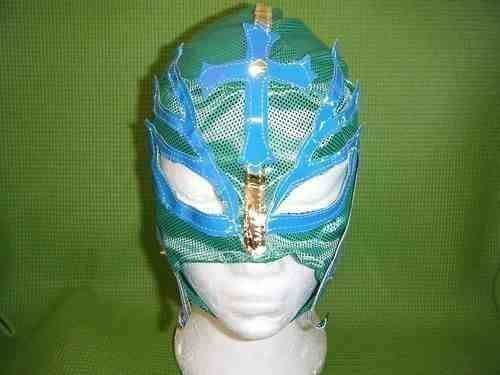SOPHZZZZ TOY SHOP Green Rey Mysterio WWE Wrestling Mask Fancy Dress Up Costume Outfit Mexican Clothing Clothes For Kids Children Zip Up The (Mysterio Spiderman Costume)