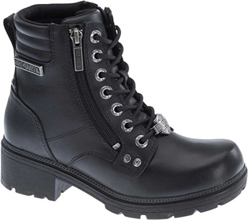 Harley-Davidson Women's Inman Mills Motorcycle Boot, Black, 7.5 M US (Motorcycle Boots Female)