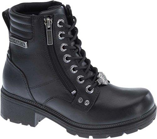 Harley-Davidson Women's Inman Mills Motorcycle Boot, Black, 8 M US