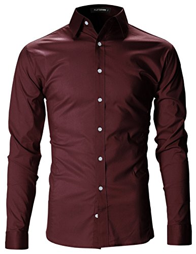 Ohoo Mens Slim Fit Ultra Light Cotton Linen Blend Long