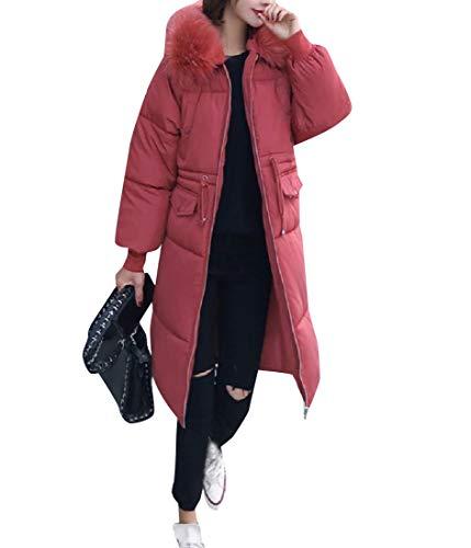 AS1 Collar Womens Brumal RkBaoye with Mid Fur Coat Down Jacket Long Hood Warm qn7nFt