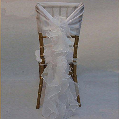 Chiavari Chair Covers (Modern Design Organza Wedding Ruffled Chair Cover Top Chair Caps Covers (Color 2))
