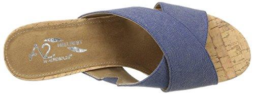 Aerosoles Women's Slide Parent Sandal US Fabric Denim Midday RORWqnwx8