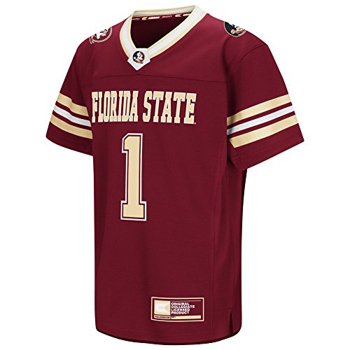 Colosseum Youth NCAA-Youth Hail Mary II Football Jersey-Florida State Seminoles-Garnet-Youth Small