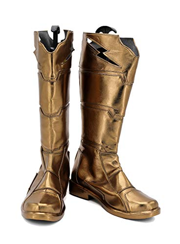 Halloween Hero Billy Cosplay Shoes Costume Boots Custom Made Golden]()