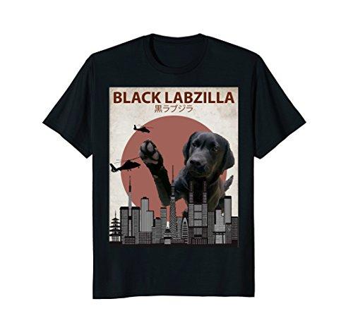 Mens Black Labzilla | Funny Labrador Retriever Lab Dog T-Shirt 2XL Black