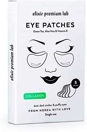 Collagen Eye Patches - Moisturizing Under Eye Pads - Anti Puffines & Dark Circles Spa Treatment - Best Hydrogel Eye Moisturizer for Women & Men - Gel Patch for Dry Skin Under Eye Zone (1 Pack)