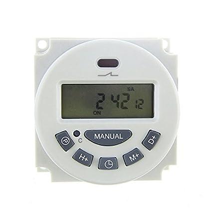 Tenflyer DC 12V Digital LCD programable Temporizador Tiempo de relé del interruptor temporizador electrónico programable semanal