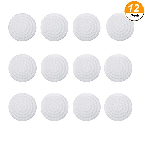 Plastic Door Handle Covers - 12 Pieces Door Knob Wall Protectors, Door Knob Wall Shield, White Round Soft Rubber Wall Guards Door Stoppers Self Adhesive Door Handle Bumper Guard for Door Knob, Kitchen (White)