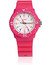 Kids Watches for Girls Ages 5-7 PU Band and 50M Waterproof Watch Childrens Analog Wrist Watch with Gift Box for Girls Boys