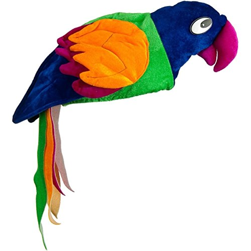 Macaw Costumes (Parrot Tropical Paradise Colorful Macaw Bird Costume Hat)