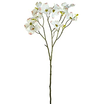 Amazon 28 silk dogwood flower spray white pack of 12 home 28quot silk dogwood flower spray white pack mightylinksfo