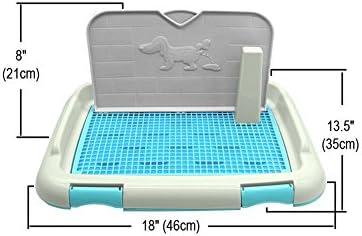Cracklight Inodoro para Perros Bandeja De Inodoro para Mascotas Port/átil Soporte para Almohadilla De Entrenamiento con Valla Perros Uso En Interiores Al Aire Libre Puppy Loo Potty Basin Proficient