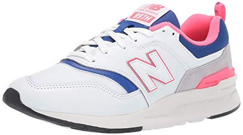 New Balance Women's 997h V1-Sneakers, White/Team Royal, 9 B US