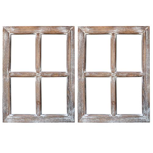 Barnyard Designs Rustic Window Barnwood Frame Primitive Country Farmhouse Wall Decor 18
