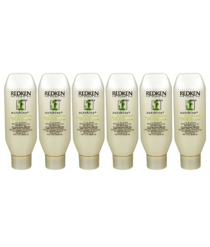SATIN SMOOTH Redken Outshine 01 Anti Frizz Polishing Milk Pack of 6, 1-Ounce 0074108264152