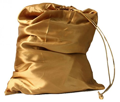 22''14'' Large Santa Sack Blank For Personalizing Gift Bag Drawstring Gold